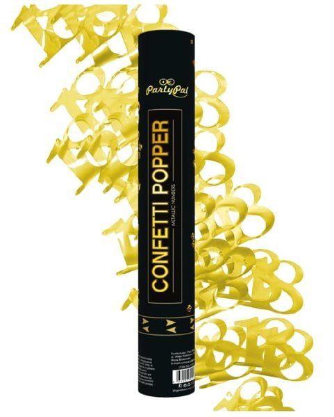 Tuba strzelająca konfetti 18 złote 40cm 512176