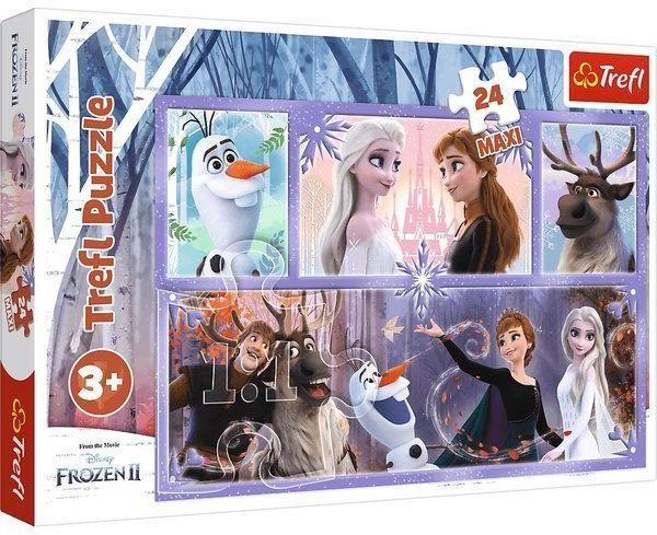 Puzzle 24 maxi Świat pełen magii Frozen 2 14345 - Trefl PAP