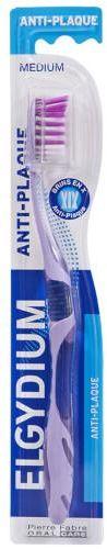 ELGYDIUM Anti-Plaque szczoteczka do zębów średnia 1 sztuka