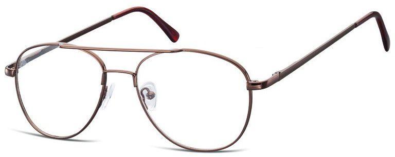 Pilotki zerówki Okulary Oprawki metalowe korekcyjne 791D