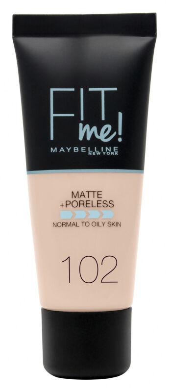 MAYBELLINE - FIT ME! Liquid Foundation For Normal To Oily Skin With Clay - Podkład matujący do twarzy z glinką - 102 FAIR IVORY