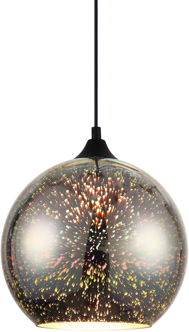 Italux lampa wisząca Andromeda 3D MDM-3069/1A CR kolorowy klosz 25cm