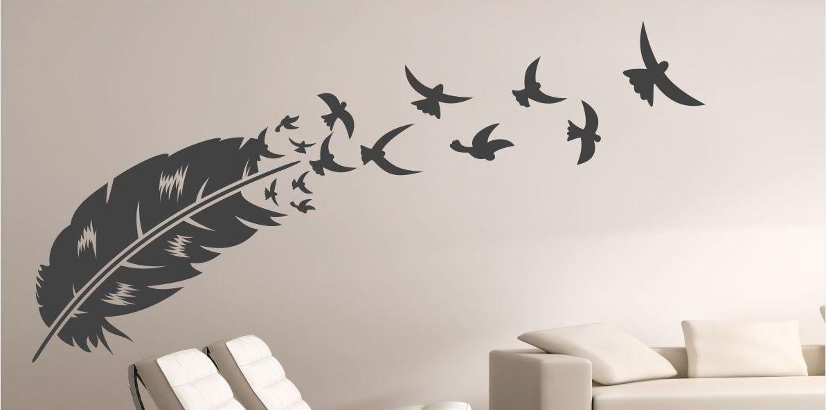 Naklejka Pióro i Ptaki