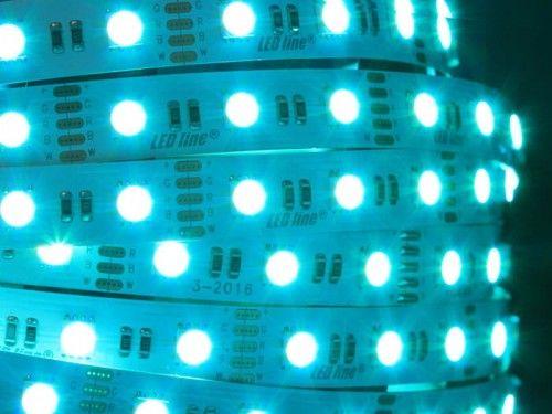 Taśma LED LEDline RGBW 300SMD5060 IP20 biała ciepła niewodoodporna - 5m.