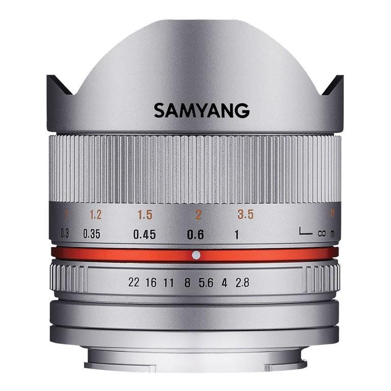 Obiektyw Samyang 8mm f/2.8 UMC Fish-eye II Srebrny Sony E