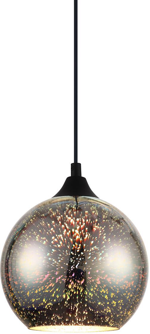 Italux lampa wisząca Andromeda 3D MDM-3070/1A CR szklany kolorowy klosz 18cm