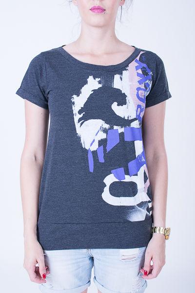 t-shirt damski ROXY Des.16 místy blur true black