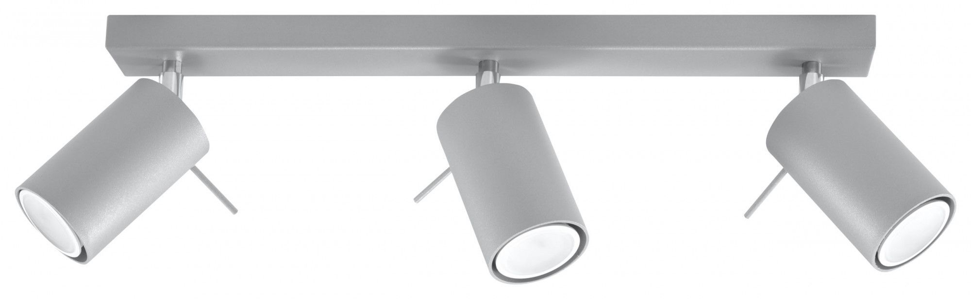 Minimalistyczny plafon LED E783-Rins - szary