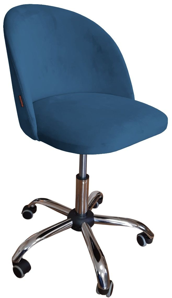 Fotel CLAUDINE VELVET ciemno niebieski