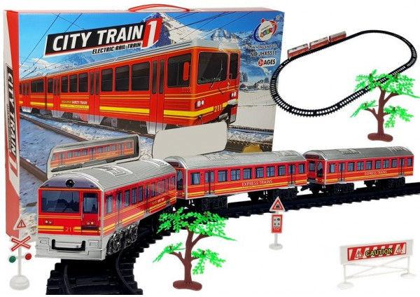 Pociąg Kolejka Tory Na Baterie 28 Elementów