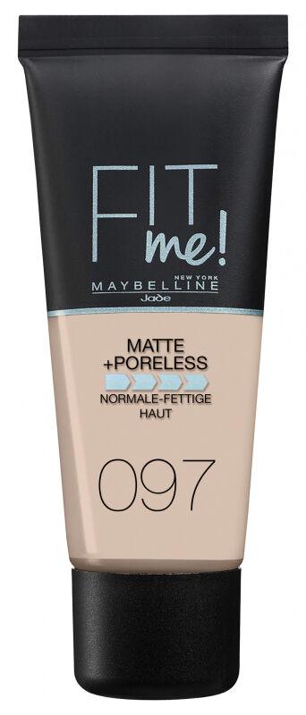 MAYBELLINE - FIT ME! Liquid Foundation For Normal To Oily Skin With Clay - Podkład matujący do twarzy z glinką - 97 NATURAL PORCELAIN