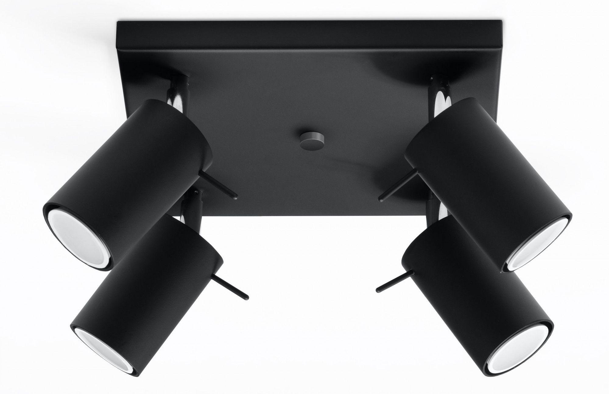 Loftowy plafon halogenowy E784-Rins - czarny
