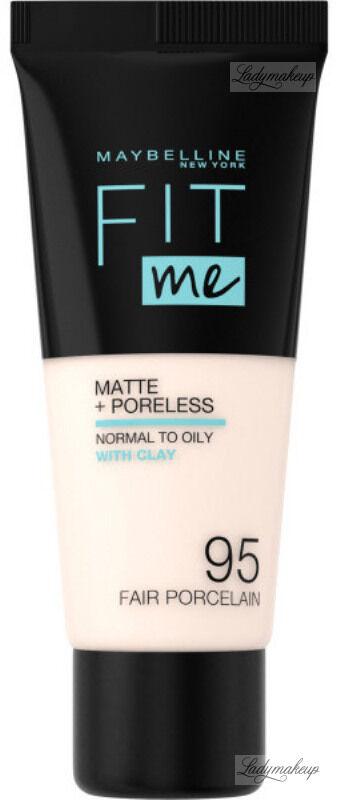MAYBELLINE - FIT ME! Liquid Foundation For Normal To Oily Skin With Clay - Podkład matujący do twarzy z glinką - 95 FAIR PORCELAIN