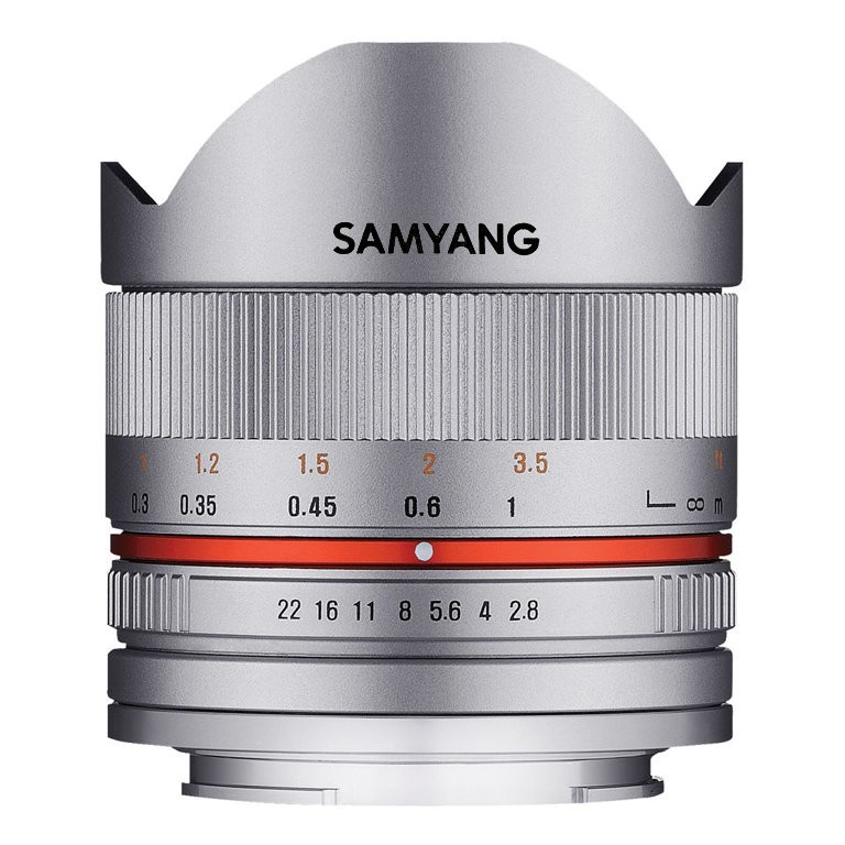 Obiektyw Samyang 8mm f/2.8 UMC Fish-eye II Srebrny Fuji X