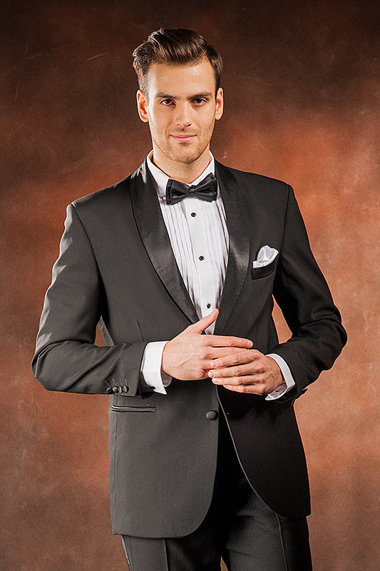 Czarny garnitur na wesele Classy
