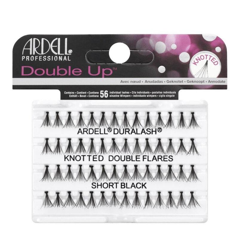 ARDELL - Double Up - Rzęsy w kępkach o zwiększonej objętości - KNOTTED DOUBLE FLARES - SHORT BLACK