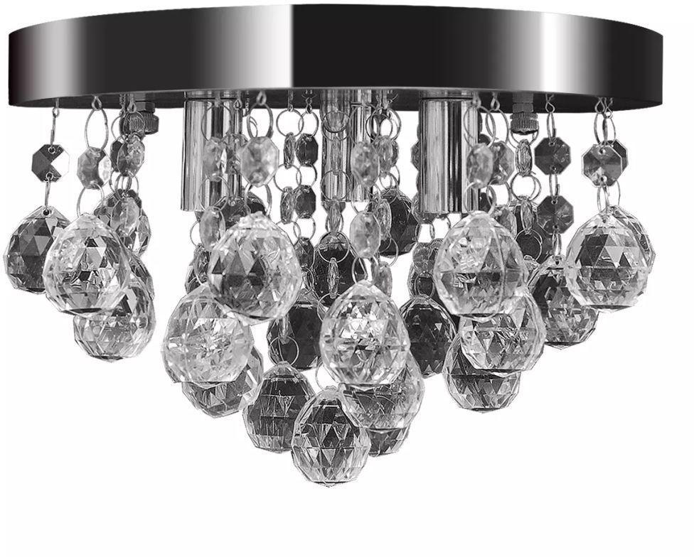 Lampa sufitowa glamour z kryształkami - E972-Silvos