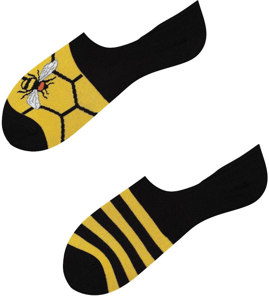 Mikrostopki Busy Bee, Todo Socks, Pszczoły, Pszczoła, Paski, Miód, Kolorowe Skarpetki