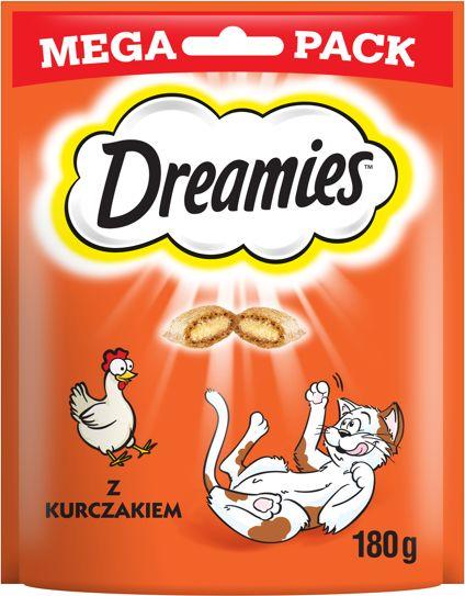 Dreamies mit Leckerem Huhn 180 g - przysmak dla kotów z kurczakiem 180g Dostawa GRATIS od 95 zł + super okazje