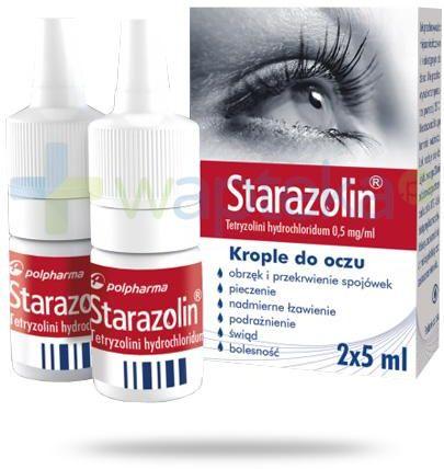 Starazolin 0,5 mg/ml krople do oczu 2x 5 ml