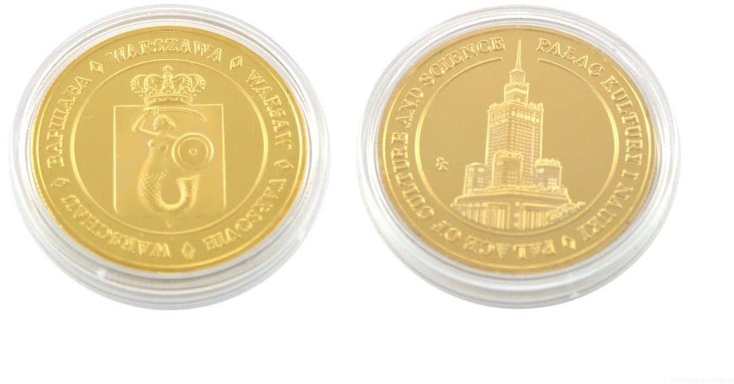 Moneta Pałac Kultury pozłacana