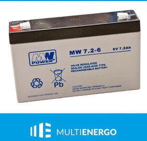 Akumulator MW Power MW 7,2-6 6V 7,2Ah