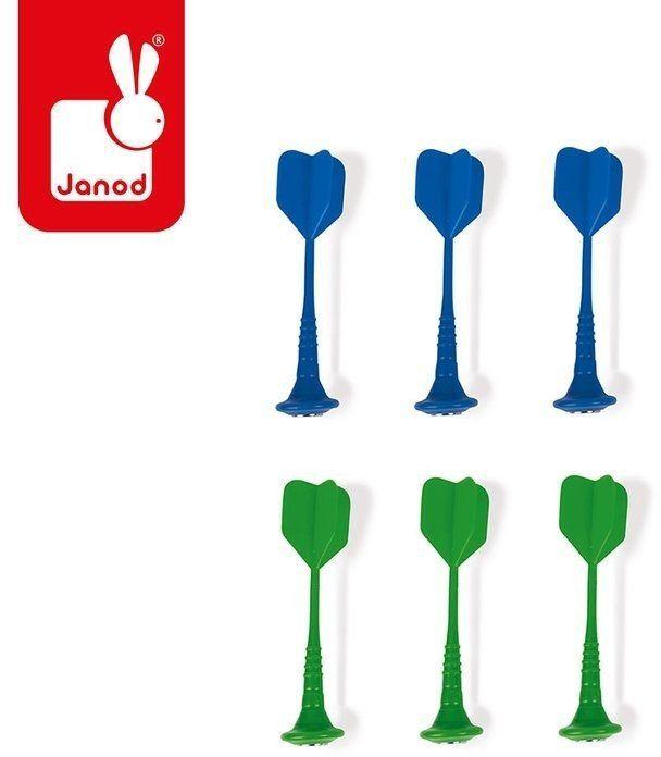 Zestaw rzutek magnetycznych 6 sztuk (zielone i niebieskie), Janod J02078