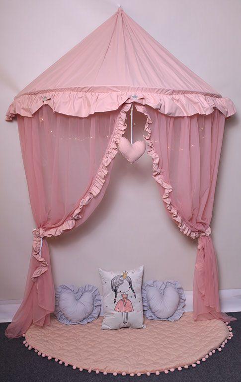 Różowy baldachim dla dziewczynki z oświetleniem LED - Sentopia 3X