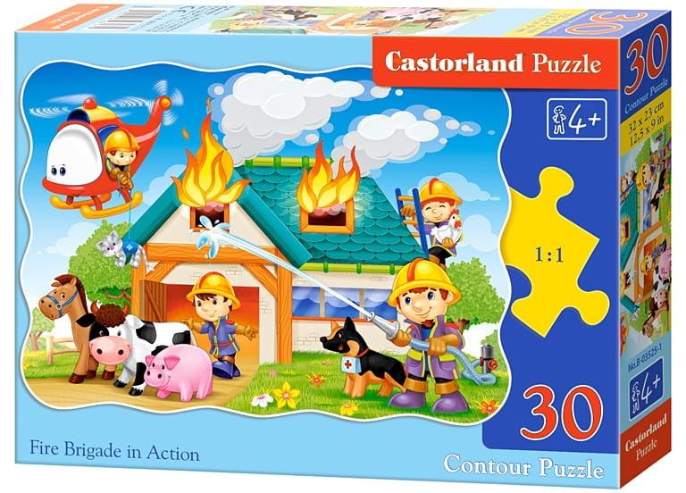 Puzzle 30 Strażacy w akcji CASTOR