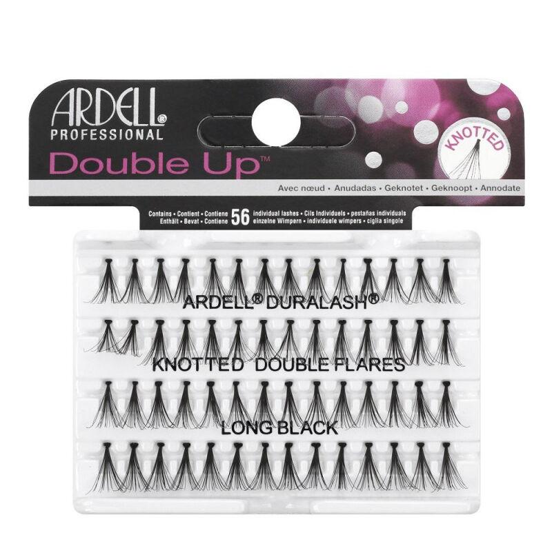 ARDELL - Double Up - Rzęsy w kępkach o zwiększonej objętości - KNOTTED DOUBLE FLARES - LONG BLACK