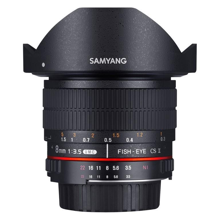 Obiektyw Samyang 8mm F3.5 UMC Fish-Eye CS II Nikon AE