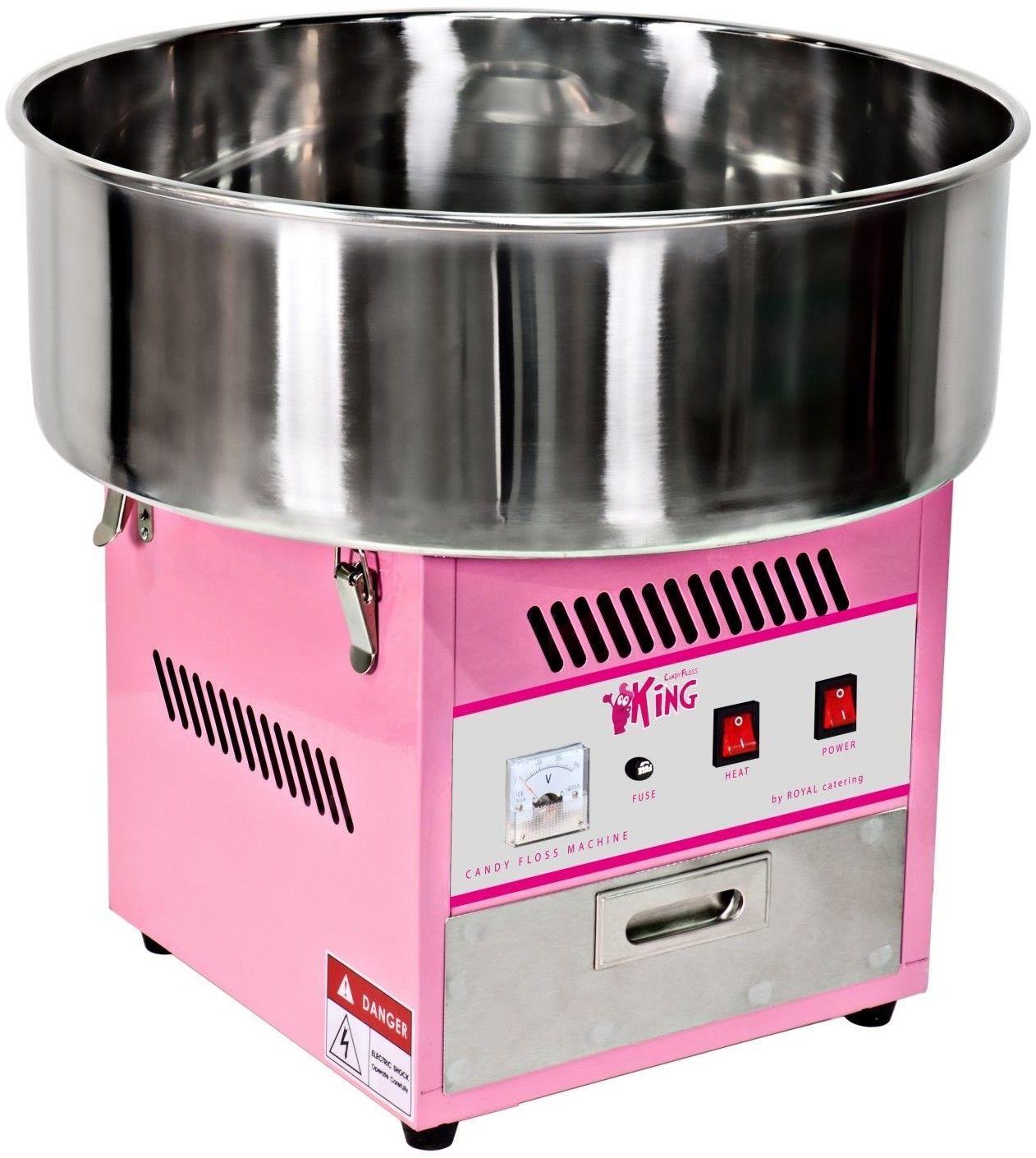 Zestaw Maszyna do waty cukrowej - 52 cm + Świecące pałeczki - LED - 50 szt. - Royal Catering - RCZK-1200-W SET1 - 3 lata gwarancji/wysyłka w 24h