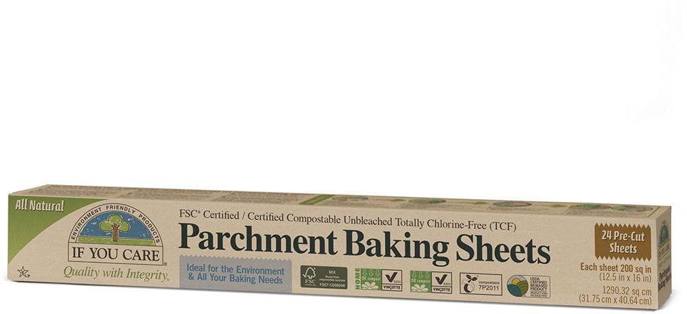 Papier do pieczenia kompostowalny niebielony 24 arkusze - if you care