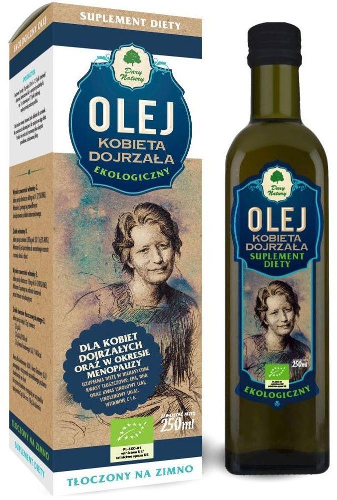 Olej kobieta dojrzała bio 250 ml - dary natury