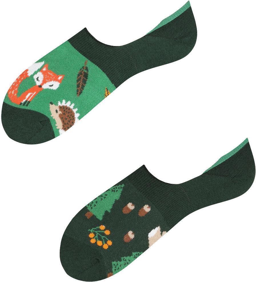 Mikrostopki, Forest Animals, Todo Socks, Lisek, Choinka, Jeż, Las, Liście, Kolorowe Skarpetki