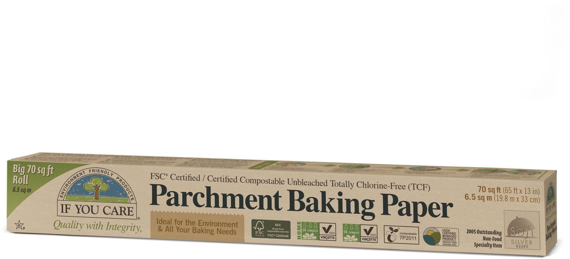 Papier do pieczenia kompostowalny niebielony w rolce 10 m - if you care