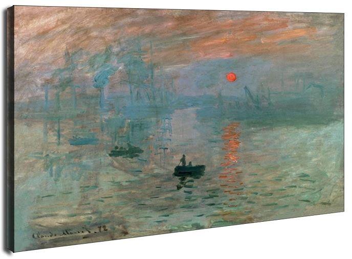 Impresja wschód słońca, claude monet - obraz na płótnie wymiar do wyboru: 90x60 cm