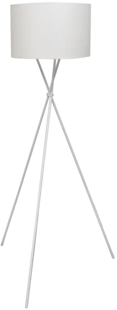 Biała lampa podłogowa z abażurem - EX02-Someba