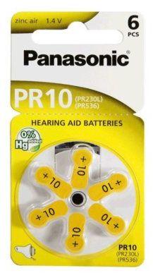 Baterie do aparatów słuchowych PANASONIC PR10 6szt.. > DARMOWA DOSTAWA ODBIÓR W 29 MIN DOGODNE RATY