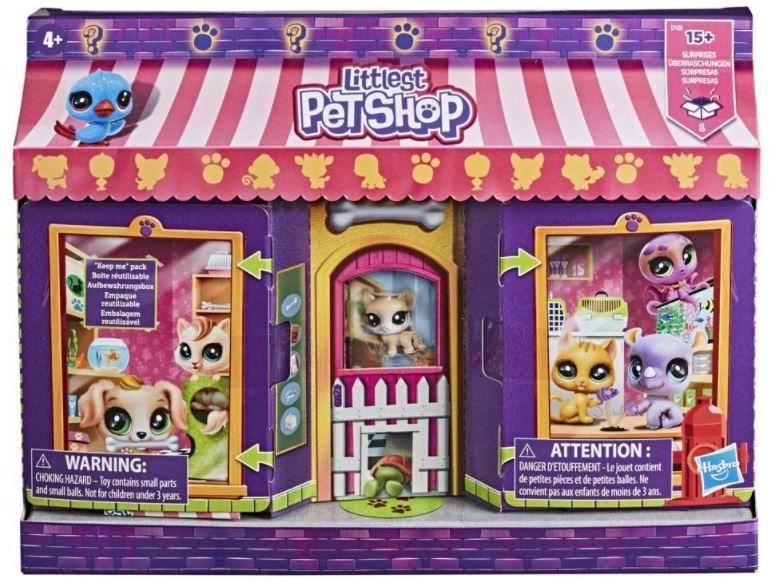 Littlest Pet Shop - Figurki niespodzianki 8-Pak + Akcesoria Sklep Zoologiczny E7428