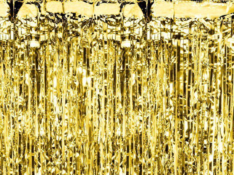 Kurtyna Party złota 90 x 250 cm 1szt CRT-019