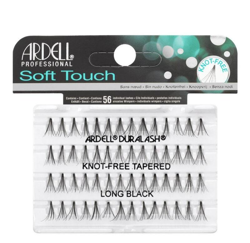 ARDELL - Soft Touch - Subtelne rzęsy w kępkach - 682857 - KNOT-FREE TAPERED - LONG BLACK