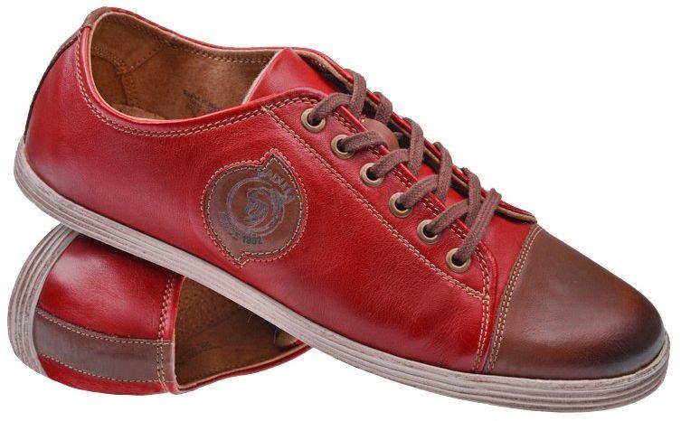 Półbuty BADURA 2659-514 Czerwone+Brąz Sneakersy
