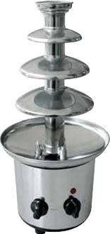 Czekoladowa fontanna stal nierdzewna chromowana 1200 g 175W 220-240V śr. 215x(H)460mm