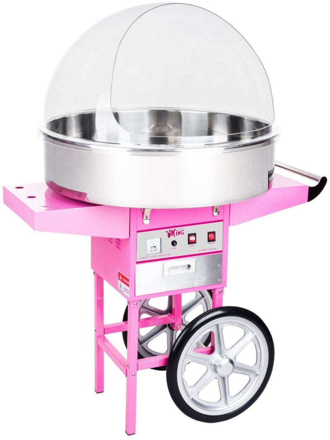 Zestaw Maszyna do waty cukrowej - 72 cm - pokrywa + Świecące pałeczki - LED - 100 szt. - Royal Catering - RCZC-1200XL SET1 - 3 lata gwarancji/wysyłka