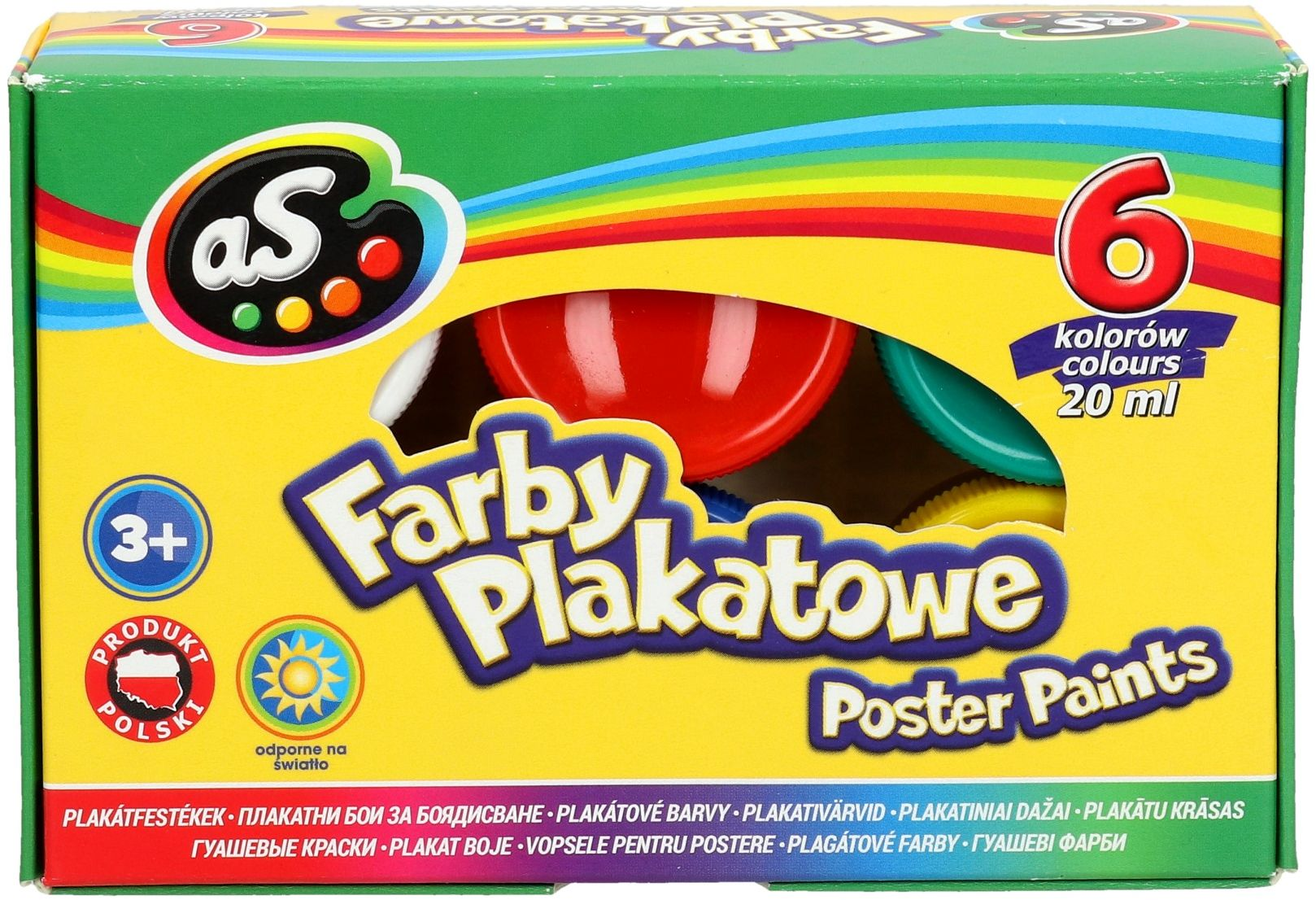 Farby plakatowe 6kol 20ml As 301219001
