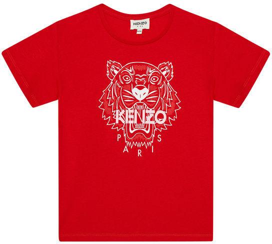 Kenzo Kids T-Shirt K15086 S Czerwony Regular Fit