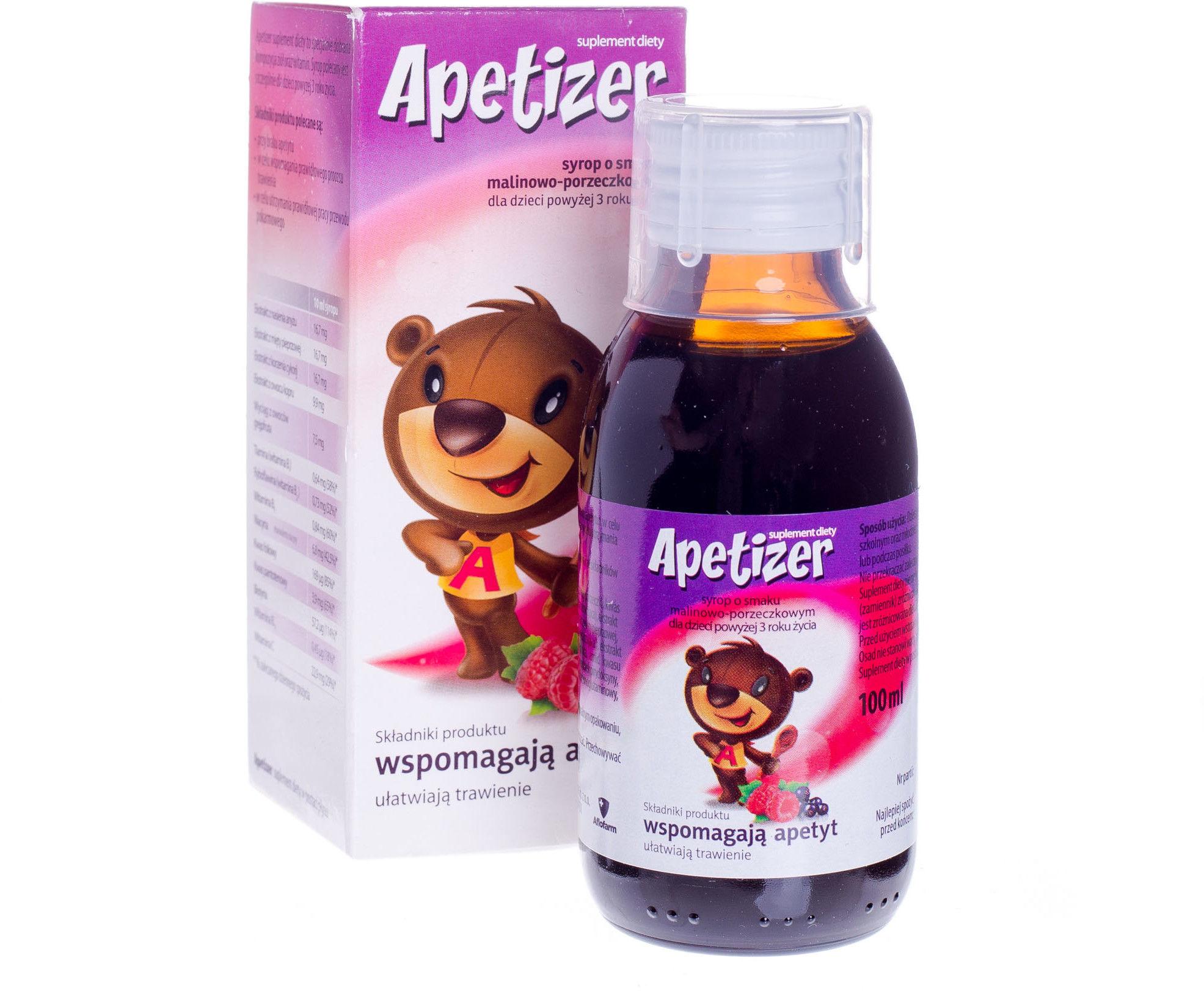 Apetizer Junior Suplement diety syrop o smaku malinowo-porzeczkowym 100 ml
