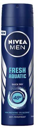 Nivea Men Fresh Aquatic antyperspirant spray 150 ml