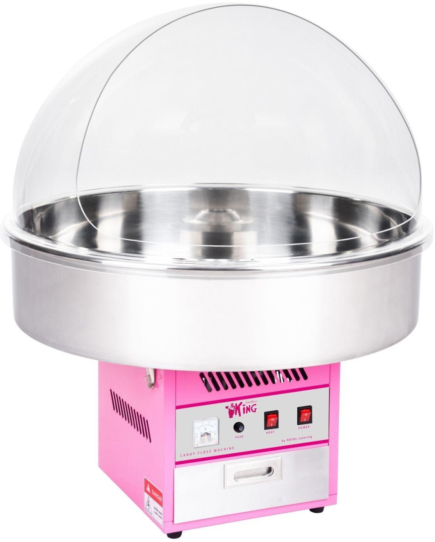 Zestaw Maszyna do waty cukrowej - 72 cm + Świecące pałeczki - LED - 50 szt. - Royal Catering - RCZK-1200XL SET1 - 3 lata gwarancji/wysyłka w 24h